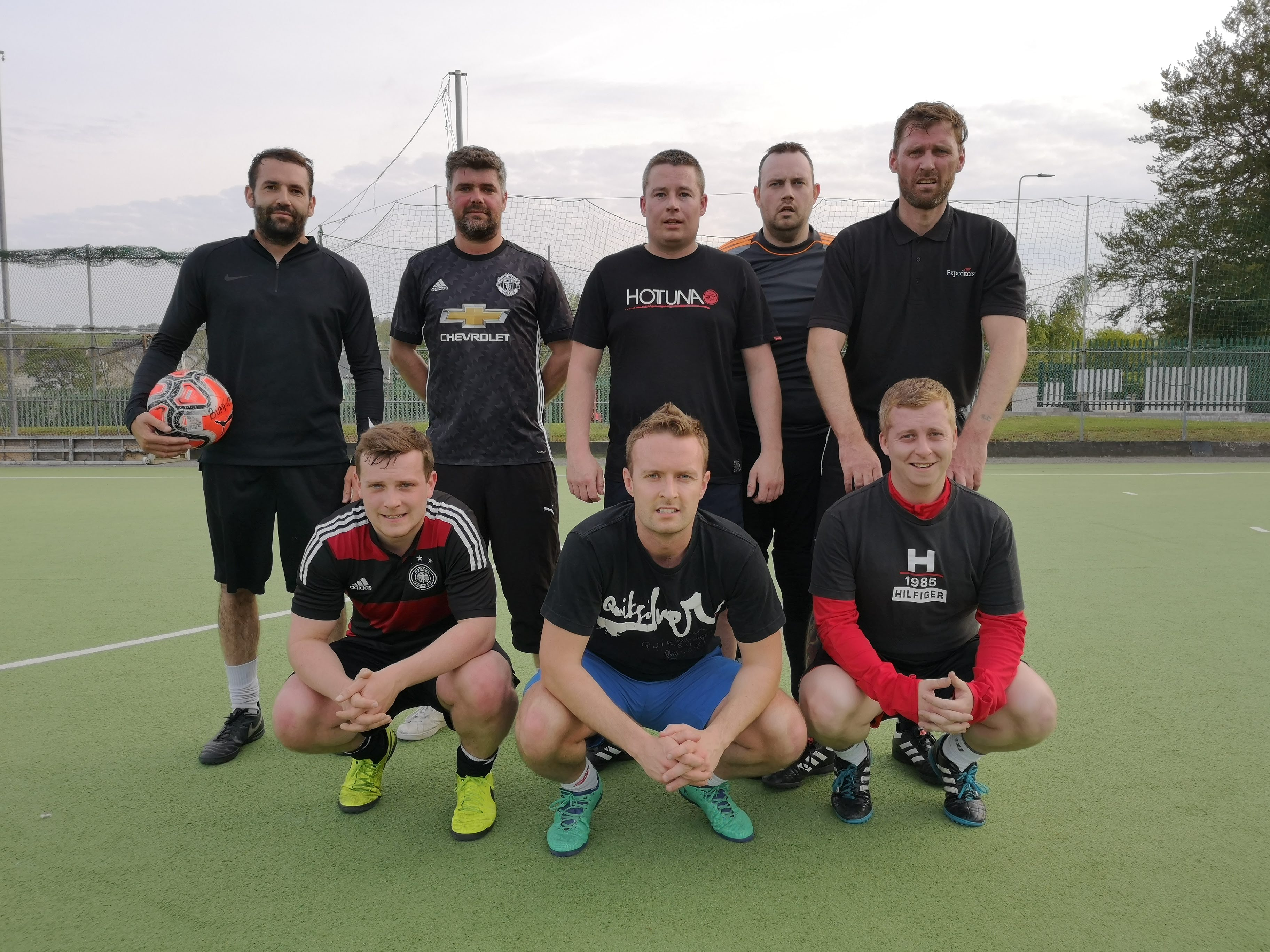 footy.ie soccer in cork team photo